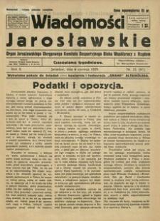 Wiadomości Jarosławskie : organ Jarosławskiego Okręgowego Komitetu Bezpartyjnego Bloku Współpracy z Rządem. 1929, R. 2, nr 23 (czerwiec)
