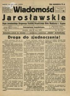 Wiadomości Jarosławskie : organ Jarosławskiego Okręgowego Komitetu Bezpartyjnego Bloku Współpracy z Rządem. 1929, R. 2, nr 29 (lipiec)