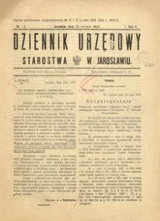 Dziennik Urzędowy Starostwa w Jarosławiu. 1927, R. 2, nr 13 (czerwiec)