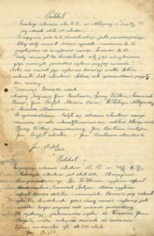 [Protokoły zebrań Kółka Rolniczego w Albigowej : 1913-1927]