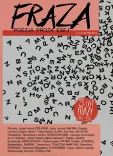 Fraza : poezja, proza, esej. 2016, R. 25, nr 91-92