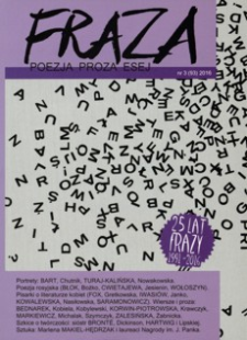 Fraza : poezja, proza, esej. 2016, R. 25, nr 93
