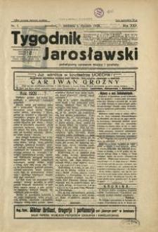 Tygodnik Jarosławski : poświęcony sprawom miasta i powiatu. 1928, R. 25, nr 1 (styczeń)