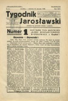 Tygodnik Jarosławski : poświęcony sprawom miasta i powiatu. 1928, R. 25, nr 3 (styczeń)