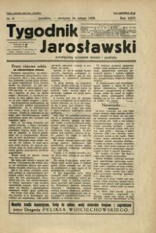 Tygodnik Jarosławski : poświęcony sprawom miasta i powiatu. 1929, R. 26, nr 8 (luty)