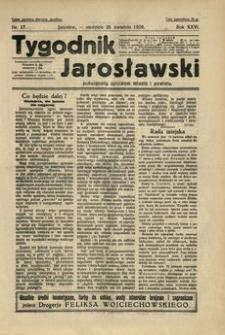 Tygodnik Jarosławski : poświęcony sprawom miasta i powiatu. 1929, R. 26, nr 17 (kwiecień)