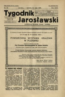 Tygodnik Jarosławski : poświęcony sprawom miasta i powiatu. 1929, R. 26, nr 19 (maj)