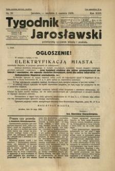 Tygodnik Jarosławski : poświęcony sprawom miasta i powiatu. 1929, R. 26, nr 22 (czerwiec)