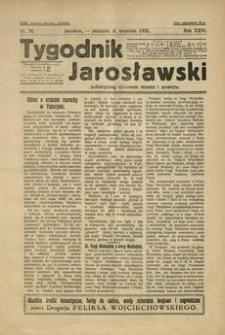 Tygodnik Jarosławski : poświęcony sprawom miasta i powiatu. 1929, R. 26, nr 36 (wrzesień)