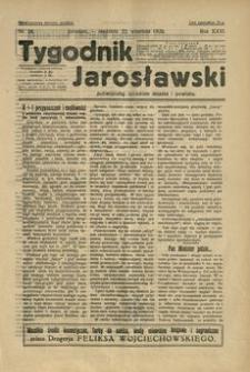 Tygodnik Jarosławski : poświęcony sprawom miasta i powiatu. 1929, R. 26, nr 38 (wrzesień)