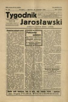 Tygodnik Jarosławski : poświęcony sprawom miasta i powiatu. 1929, R. 26, nr 39 (wrzesień)