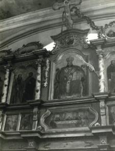 [Królik Wołoski pow. krośnieński. Wnętrze cerkwi grekokatolickiej] [Fotografia]