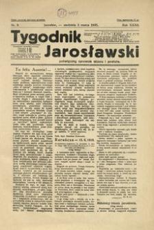 Tygodnik Jarosławski : poświęcony sprawom miasta i powiatu. 1935, R. 32, nr 9 (marzec)