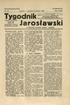 Tygodnik Jarosławski : poświęcony sprawom miasta i powiatu. 1935, R. 32, nr 23 (czerwiec)