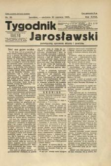 Tygodnik Jarosławski : poświęcony sprawom miasta i powiatu. 1935, R. 32, nr 26 (czerwiec)