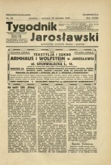 Tygodnik Jarosławski : poświęcony sprawom miasta i powiatu. 1935, R. 32, nr 39 (wrzesień)