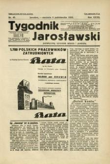 Tygodnik Jarosławski : poświęcony sprawom miasta i powiatu. 1935, R. 32, nr 40 (październik)