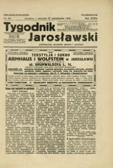 Tygodnik Jarosławski : poświęcony sprawom miasta i powiatu. 1935, R. 32, nr 43 (październik)
