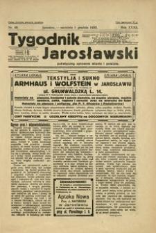 Tygodnik Jarosławski : poświęcony sprawom miasta i powiatu. 1935, R. 32, nr 48 (grudzień)