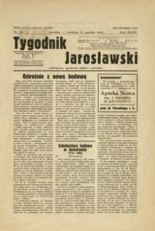 Tygodnik Jarosławski : poświęcony sprawom miasta i powiatu. 1935, R. 32, nr 50 (grudzień)