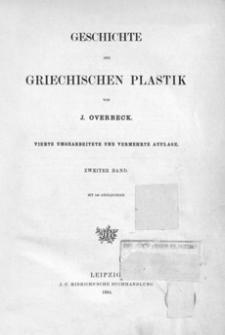 Geschichte der grichischen Plastik. Bd. 2