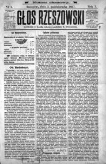 Głos Rzeszowski. 1897, R. 1, nr 1-13