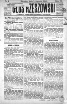 Głos Rzeszowski. 1899, R. 3, nr 1-53
