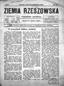 Ziemia Rzeszowska : czasopismo narodowe. 1919, R. 1, nr 13