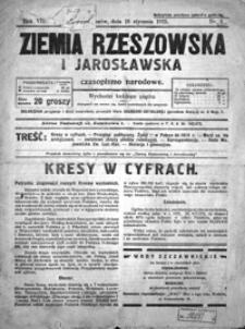 Ziemia Rzeszowska i Jarosławska : czasopismo narodowe. 1925, R. 7, nr 3-18