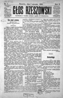 Głos Rzeszowski. 1906, R. 10, nr 1-52