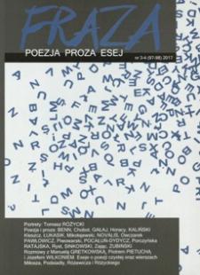 Fraza : poezja, proza, esej. 2017, R. 25, nr 97-98