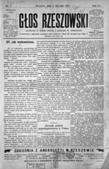 Głos Rzeszowski. 1911, R. 15, nr 1-17, 19-32, 34-44, 46-52