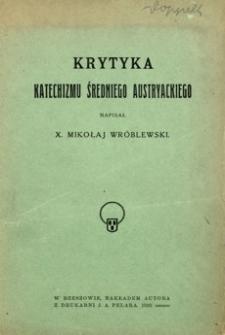 Krytyka katechizmu średniego austryackiego