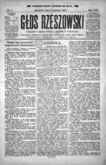 Głos Rzeszowski. 1919, R. 22, nr 1-52