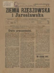 Ziemia Rzeszowska i Jarosławska : czasopismo narodowe. 1923, R. 5, nr 9