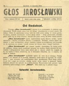 Głos Jarosławski. 1919, R. 1, nr 1 (styczeń)