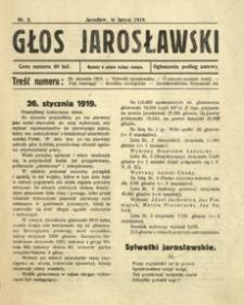 Głos Jarosławski. 1919, R. 1, nr 2 (luty)