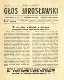 Głos Jarosławski. 1919, R. 1, nr 3 (marzec)