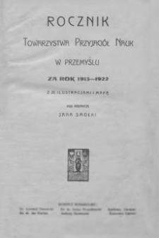 Rocznik Towarzystwa Przyjaciół Nauk w Przemyślu za rok 1913-1922. T. 3