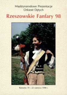 """Międzynarodowe Prezentacje Orkiestr Dętych """"Rzeszowskie Fanfary '98"""""""