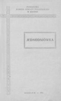 Dorobek pracy na niwie społecznej towarzystw i organizacyj kulturalno-oświatowych w powiecie krośnieńskim : jednodniówka