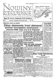 Nowiny Rzeszowskie : organ KW Polskiej Zjednoczonej Partii Robotniczej. 1949, R. 1, nr 12 (26 września)