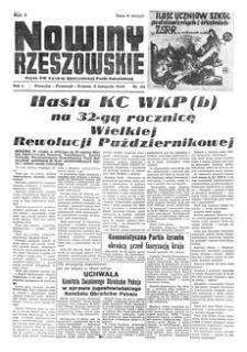 Nowiny Rzeszowskie : organ KW Polskiej Zjednoczonej Partii Robotniczej. 1949, R. 1, nr 50 (3 listopada)