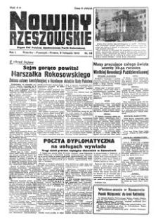 Nowiny Rzeszowskie : organ KW Polskiej Zjednoczonej Partii Robotniczej. 1949, R. 1, nr 56 (9 listopada)