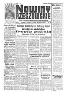 Nowiny Rzeszowskie : organ KW Polskiej Zjednoczonej Partii Robotniczej. 1949, R. 1, nr 66 (19 listopada)