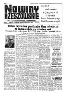 Nowiny Rzeszowskie : organ KW Polskiej Zjednoczonej Partii Robotniczej. 1949, R. 1, nr 76 (29 listopada)