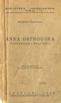 Anna Ostrogska : wojewodzina wołyńska