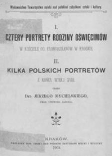 Cztery portrety rodziny Oświęcimów w kościele OO. Franciszkanów w Krośnie
