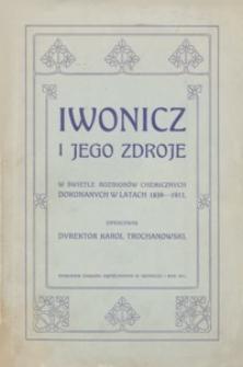 Iwonicz i jego zdroje w świetle rozbiorów chemicznych dokonanych w latach 1839-1911
