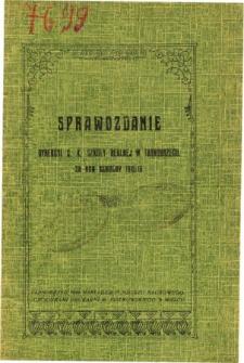Sprawozdanie Dyrekcyi C. K. Szkoły Realnej w Tarnobrzegu za rok szkolny 1915/16